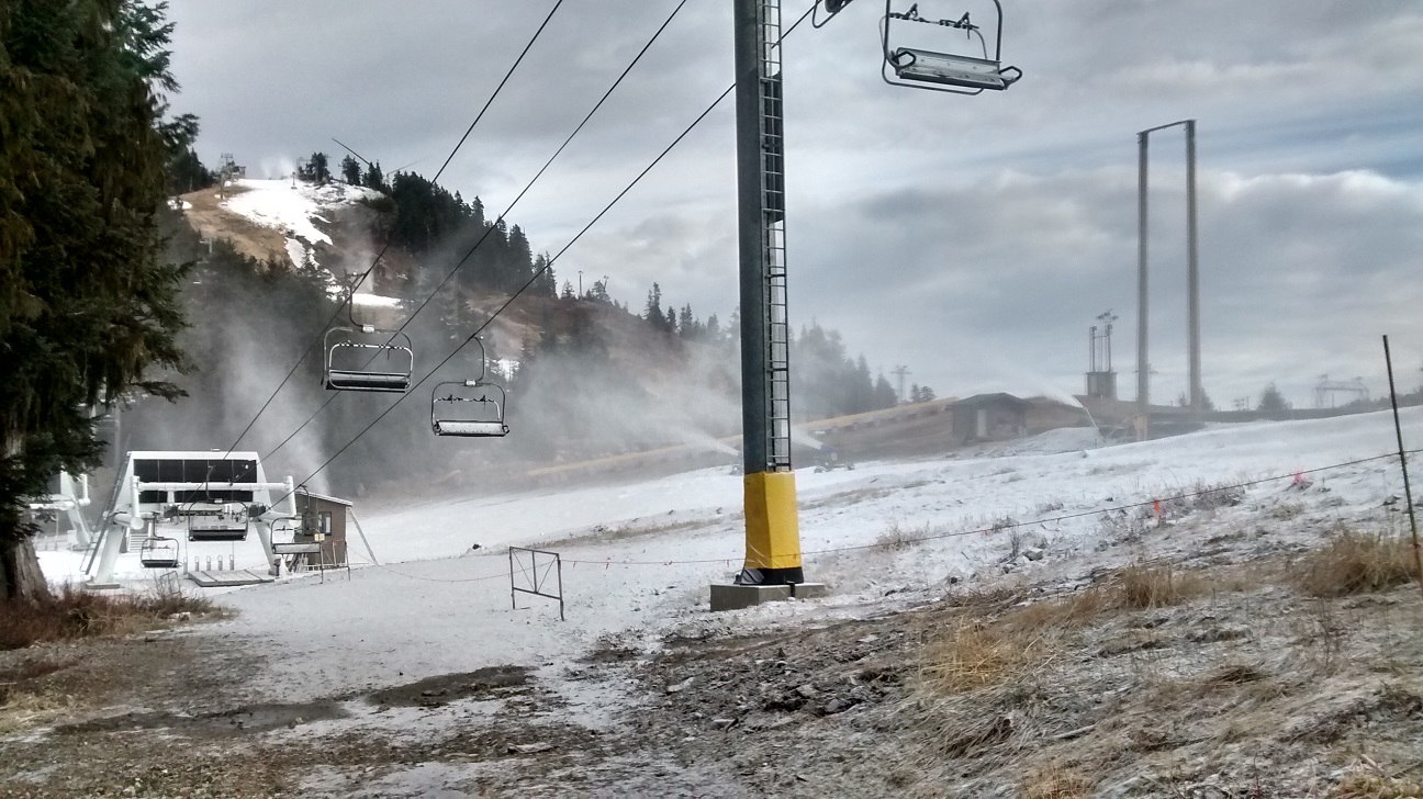 snow machines running